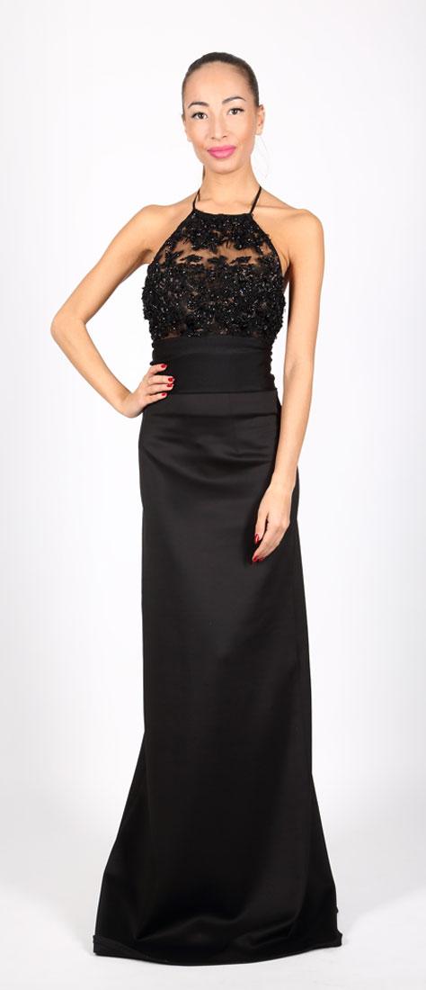 Dvojdielne čierne šaty