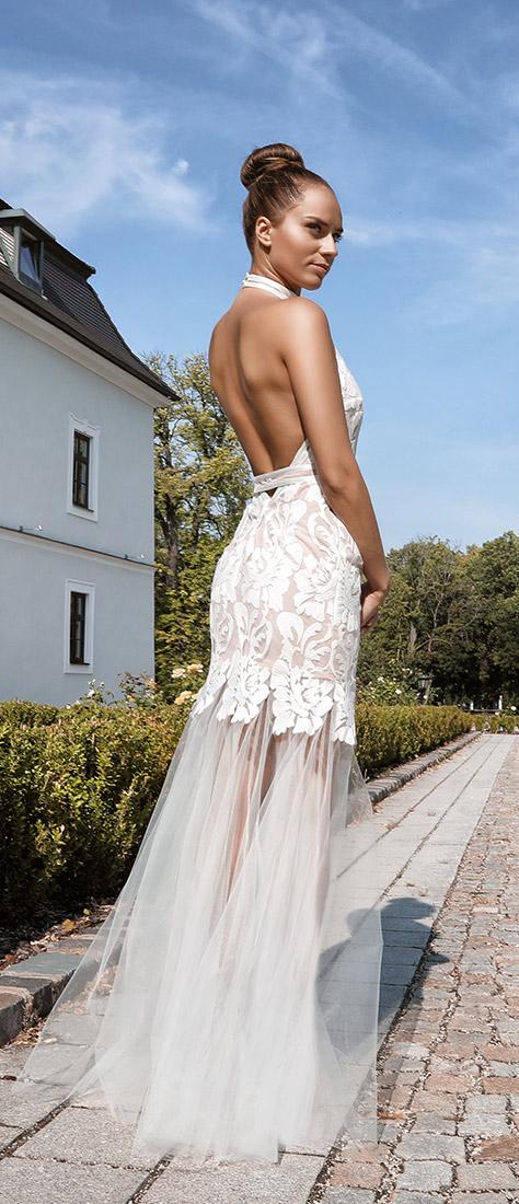 Sexy úzke krajkové šaty